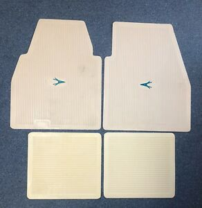 1955 1962 Plymouth Dodge Desoto Chrysler Imperial Floor Mats Set Ivory W green