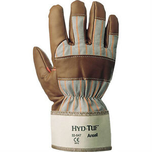 6 Pairs Ansell 52 590 10 Hyd tuf Nitrile Coated Insulated Winter Work Gloves