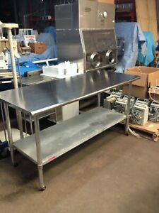 Duke Manufacturing Co Aerohot Model 418 6 Foot Stainless Steel Table
