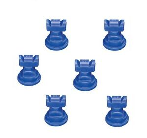Pack Of 6 Teejet Twinjet Twin Flat Spray Tips Blue 110 X 2 Polymer Visiflo