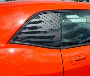 Fits Dodge Challenger 2008 2021 Distressed American Flag Window Decal Sticker