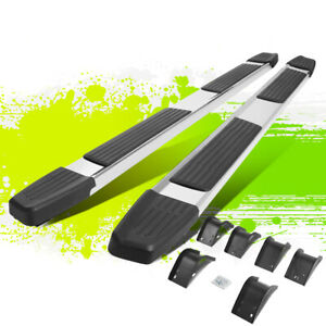 6 Flat Style Polished Step Nerf Bar Running Boards For Dodge Ram Crew Cab 09 14