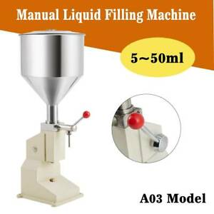 Manual 5 50ml Liquid Filling Machine For Cream Shampoo Paste Water Remplissage