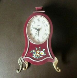 Vintage Fichter Kg Goldbuhl Alarm Clock For Repairs Parts West Germany