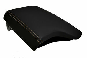 Console Lid Armrest Cover Pvc Leather For Ford Ranger 2019 2020 Beige Stitch