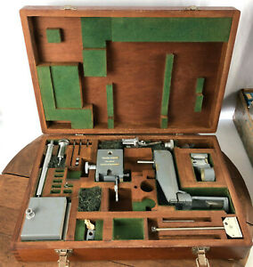 Vintage Taylor Hobson Datum Parts Attachments With Wooden Case wh 17