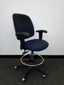 128 Adjustable Upholstered Drafting Chairs esd