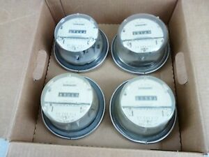 Case Of 4 Sangamo Electric Watthour Meters Cl200 240v Type J4s 4 Lug 1