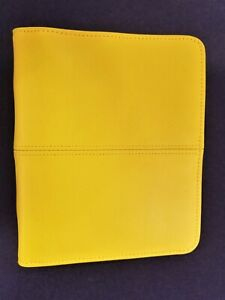 Compact Franklin Covey Unstructured Leather Binder Yellow 1 Ring