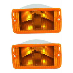 New Depo Front Parking Turn Signal Light Set For 97 06 Jeep Wrangler Ch2520141