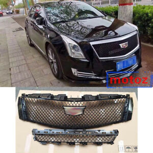 For Cadillac Xts 2013 2017 Car Auto Mesh Front Bumper Upper Grill Grille Cover