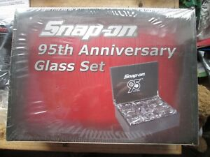 Snap On Collectors Limited Edition 95th Anniversary Glass Set New Old Stock