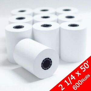 600 Rolls 2 1 4 x 50 Credit Card Thermal Receipt Paper Cash Register For Store