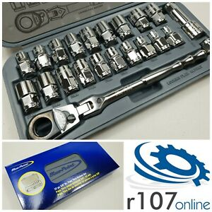 Blue Point 22pc 3 8 Pass Thru Socket Set As Sold By Snap On