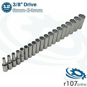 Blue Point 3 8 Deep Socket Set 6mm 24mm As Sold By Snap On