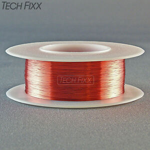 Magnet Wire 34 Gauge Awg Enameled Copper 990 Feet Coil Winding 155 c Red