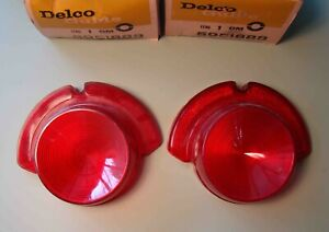 1961 62 Buick Special 40 Station Wagon Tail Lamp Lenses Nos Delco Guide Pair