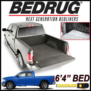 Bedrug Custom Fit Carpet Bed Liner Mat Fits 2002 2018 Dodge Ram With 6 4 Bed