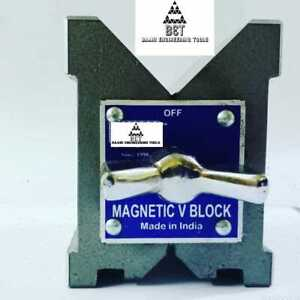 Precision Magnetic V Block Matched Pair Both Side V 80x70x60mm 3 Set Of Two Pc