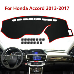 Premium Fabric Car Dashboard Dash Board Cover Mat Pad For Honda Accord 2013 2017