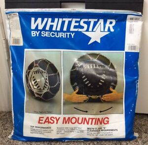 Scc Security Whitestar Snow Winter Car Tire Chains 1 Pair Weissenfels Ws1311