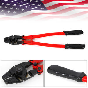 Hand Swager Swaging Tool Cable Wire Rope Cutting Plier 1 8 Cutter Crimper 340mm