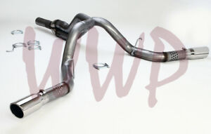 Dual 4 Filter Back Exhaust System 11 15 Chevy gm 2500 6 6l Duramax Turbo Diesel