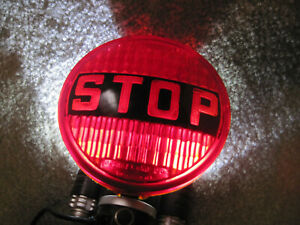 Vintage Glass 4 1 2 In Stop Light Lens Hot Rod Rat Rod Nice Condition