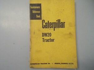 Caterpillar Cat Dw20 Tractor Servicemens Reference Manual