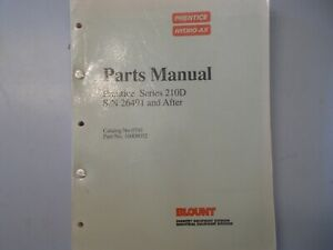 Prentice Hydro Series 210d S n 26491 After Parts Manual