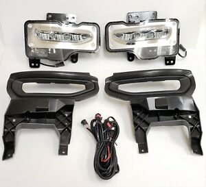 Built in Led Fog Light Kit Fit 2016 2017 2018 Gmc Sierra 1500 Bezel Wire Switch