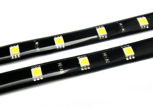 2pc Led Light Strip Fit Chevy Drl Fog Signal Parking Trunk Light 12 Smd White
