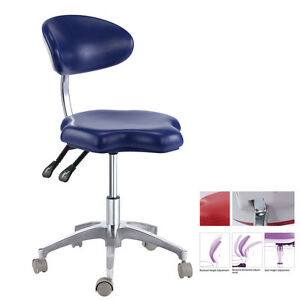 Adjustable Dental Medical Mobile Exam Chair For Dentist Doctor Stool Pu Leather