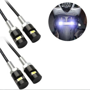 4pcs White Led Smd Motorcycle Car License Plate Screw Bolt Light Lamp Bul Rgf