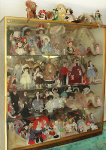 Glass Doll Display Case Glass Doors Mirrord Back Lighted Glendale Ca P u