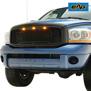 Eag Replacement Grille Led Lights Fits 06 08 Dodge Ram 1500 06 09 Ram 2500 3500