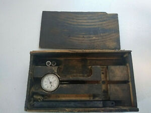 Vintage Starrett No 196 Machinist Dial Indicator With Wood Box 2