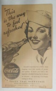 Coca-Cola ad: This Is The Way ! ~ 6.5 x 9 inches from 1940's
