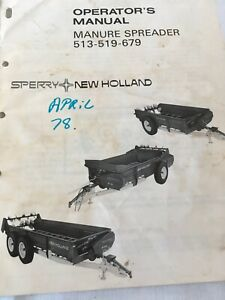 Sperry New Holland Manure Spreader 513 519 679 Operator s Manual