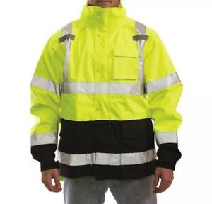 Tingley Icon Premium Class 3 Jacket With Attached Hood Large J24122 Ansi isea