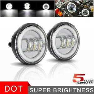 4 5 Inch 90w Halo Round Led Light Waterproof Fog Driving Lamp For Offroad Truck
