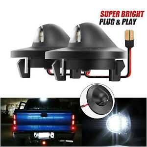 2pcs For Ford F150 F250 F350 Led License Plate Light Bulb Assembly Replacement