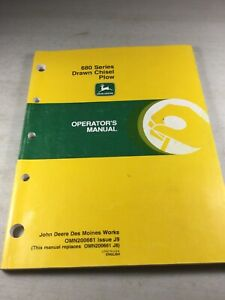 John Deere 680 Chisel Plow Operators Manual