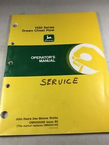 John Deere 1650 Series Drawn Chisel Plow Operators Manual