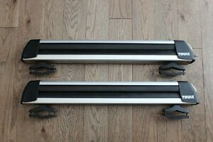 Thule 30 Universal Flat Top 6 Ski Snowboard Carrier For Roof Rack W Locks