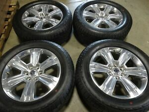 20 Ford F150 Factory Oem Polished Wheels Rims Hankook Tires Expedition 10004