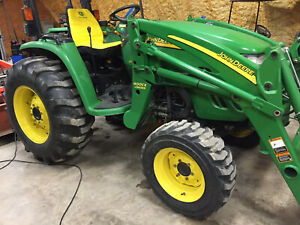 John Deere 4520 4wd Mfwd Tractor Self Leveling Loader Loaded With Low Hours