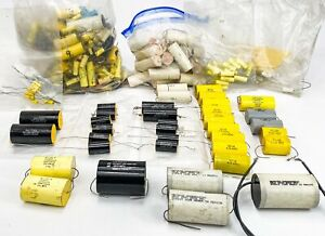 Huge Lot Of Capacitors For Speaker Crossovers Vintage And Nos