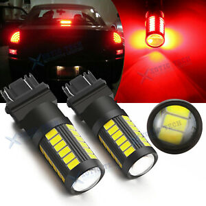 3157 3057 Red Projector Led Lamps Brake Tail Light Bulbs For Chevy Camaro Tahoe