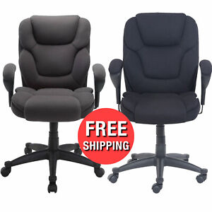 Boss Executive Manager Office Chair Swivel Big And Tall Mesh Fabric Heavy Duty